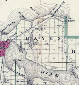 old Hayes townhip map