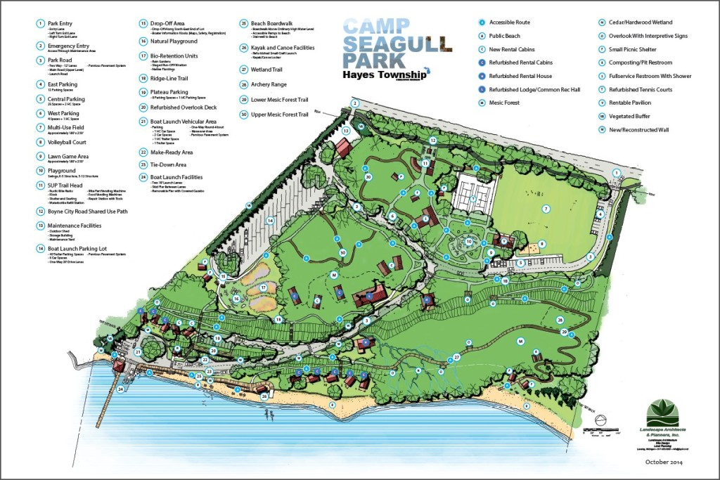 camp seagull park color map